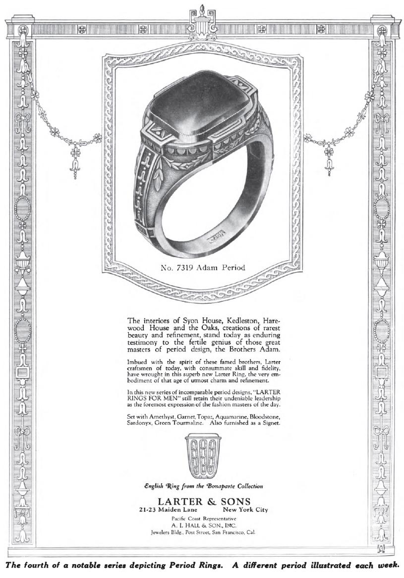 Larter Classical Revival ring advertisement.