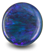 Round Black Opal with vibrant Blue, Violet and Green colors