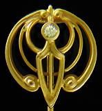 Art Nouveau insect stickpin. (J9237)