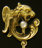 Alling & Co. dragon and pearl stickpin. (J9081)