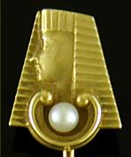 Art Deco Egyptain Revival Stickpin (J9517).