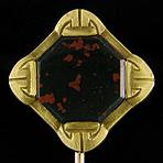 Brassler bloodstone stickpin. (J9060)