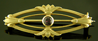 Hans Brassler Egyptian Revival brooch. (J9341)