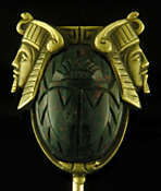 Hans Brassler Egyptian Revival stickpin. (J9136)