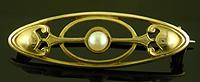 Hans Brassler pearl brooch. (J9387)