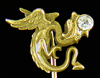 Carrington dragon and diamond stickpin. (J9439)