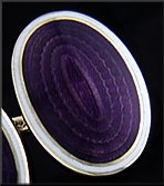 Carrington purple enamel cufflinks. (J8828)