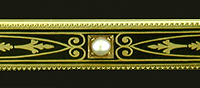 Edwardian bar pin in black and gold. (J9361)