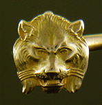Carter, Howe regal lion and leopard cufflinks. (J9158)