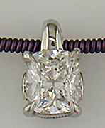Custom designed cushion diamond pendant.