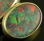 Custom opal cufflinks. (J9468)