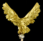 French eagle and diamond stickpin. (J9043)