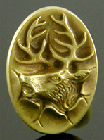 http://www.jewelryexpert.com/catalog/Dramatic elk crashing through wall cufflinks. (J9106)
