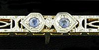Frank Krementz sapphire bar pin. (J9346)