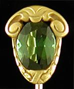 Hans Brassler tourmaline stickpin. (J9395)