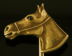 Equestrian stickpin of horse head in profile. (J9056)
