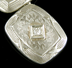 Art Deco diamond cufflinks. (J9222)