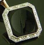 Art Deco onyx dress set. (D9524)