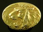 Krementz roaring lion cufflinks. (J9080)