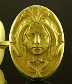Krementz Art Nouveau cufflinks. (J9175)