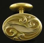 Link & Angell Art Nouveau swirl cufflinks. (J8600)