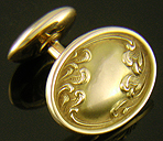 Link & Angell Art Nouveau wave cufflinks. (J8681)