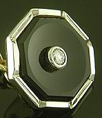 Onyx and diamond tuxedo set. (J9497)