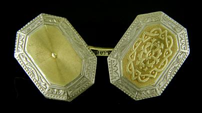 art deco arabesque cufflinks the antique cufflink gallery. Black Bedroom Furniture Sets. Home Design Ideas