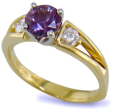 Purple Sapphire Ring With Diamonds Bijoux Extraordinaire