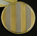 Richardson two-tone pinstripe cufflinks. (J9134)