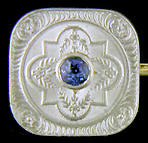 Strobell & Crane sapphire and diamond cufflinks. (J8979)