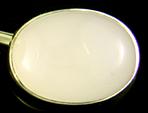 Sansbury & Nellis white quartz cufflinks. (J9109)