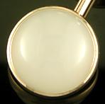 Sansbury & Nellis white quartz cufflinks. (J9178)