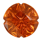 A vibrant orange Medicine Wheel Cut Spessartite Garnet. (CS8666)