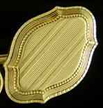 Elegant pinstripe cufflinks. (J9171)