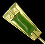 Art Deco jade stickpin. (J9269)
