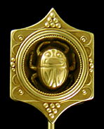Egyptian Revival scarab stickpin. (J9241)