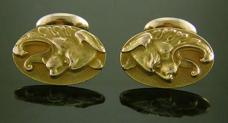 Antique Lion-Eagle Cufflinks - Bijoux Extraordinaire