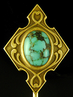 Hayden Wheeler turquoise stickpin. (J9195)