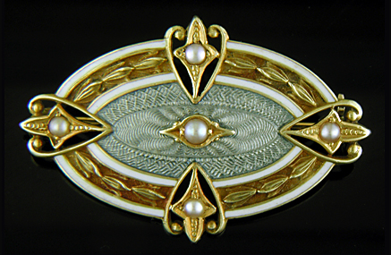 Wordley, Allsopp and Bliss brooch with pearls.