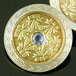 Ziething sapphire and garland cufflinks. (J9381)