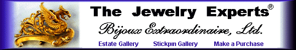 The Antique Cufflink Gallery, your Art Deco sapphire stickpin experts. (J9452)